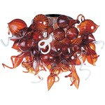 Mimi Semi Flush Mount - Polished Chrome / Root Beer