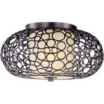Meridian Ceiling Flush Mount - Umber Bronze / Dusty White