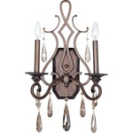 Chic Wall Light - Heritage / Crystal