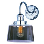 Mini Hi-Bay 25089 Wall Light - Polished Nickel / Smoke