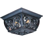 Newbury VX Outdoor Ceiling Flush Light - Oriental Bronze / Seedy Glass