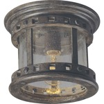 Santa Barbara VX Outdoor Ceiling Mount - Sienna / Seedy Glass