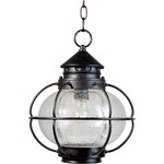 Portsmouth Outdoor Pendant - Oil Rubbed Bronze / Seedy Glass