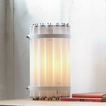 Recycled Tube Light Table Lamp - White /
