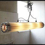 Recycled Tube TL6 Light Pendant - White /