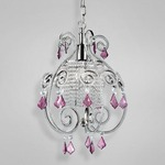 Claret Pendant - Satin Nickel / Clear
