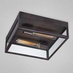 Retto Flushmount - Bronze / Clear