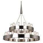 Candelaria Two-Tier Chandelier - Brushed Nickel /