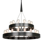 Candelaria Two-Tier Chandelier - Deep Patina Bronze /