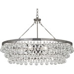 Bling Large Chandelier - Polished Nickel / Crystal