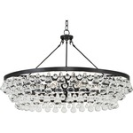 Bling Large Chandelier - Deep Patina Bronze / Crystal