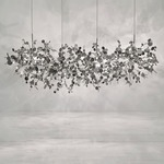 Argent Linear Chandelier - Stainless Steel / White