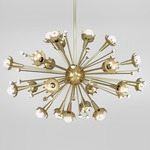 Sputnik Chandelier - Antique Brass / Crystal