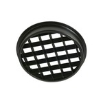 LA-38 Egg Crate Louver 4.75 Inch Diameter - Black /