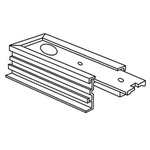 Recessed Track RAH-10 End Feed Housing - White /