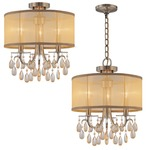 Hampton Convertible Chandelier - Antique Brass /
