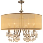 Hampton Chandelier - Antique Brass /