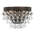 Calypso Wall Light - Vibrant Bronze / Clear