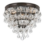 Calypso Ceiling Light Fixture - Vibrant Bronze / Clear