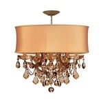 Brentwood Maria Theresa Chandelier - Antique Brass / Harvest Gold/ Golden Teak Hand Polished
