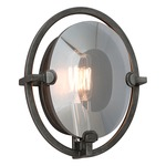 Prism B2821 Wall Sconce - Graphite / Smoked Crystal