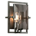 Prism B2822 Wall Sconce - Graphite / Smoked Crystal
