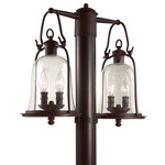 Owings Mill Post Light - Bronze / Clear