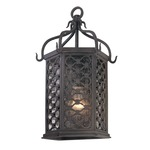 Los Olivos Outdoor Wall Pocket Lantern - Iron / Clear