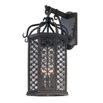 Los Olivos Outdoor Wall Sconce - Iron / Clear