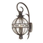 Campanile Outdoor Wall Light - Bronze / Clear