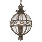 Campanile Outdoor Pendant - Bronze / Clear