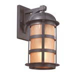 Aspen Outdoor Wall Sconce - Bronze / Amber