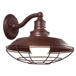 Circa 1910 Outdoor Wall Sconce - Rust /