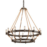 Pike Place 2-Tier Chandelier - Shipyard Bronze /