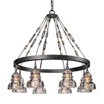 Menlo Park Chandelier - Old Silver / Clear