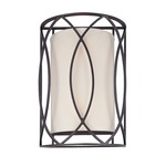 Sausalito Wall Sconce - Deep Bronze / Ivory