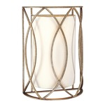 Sausalito Wall Sconce - Silver Gold / Ivory