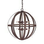 Flatiron Chandelier - Weathered Iron /