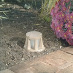 DWL1 Bronze Mini Beacon Bollard - Natural Bronze / Frosted