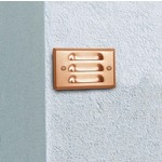 RLL2 Mini Louver Steplyte - Copper / Frosted
