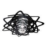 Aurora Mini Ceiling Flush -  / Black
