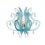 Medusa Wall Sconce -  / Blue Gel