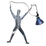 Monorail Metal Man Hang Functional Art