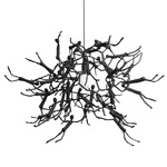 Little People Round Indoor Hanging Lamp - Black /