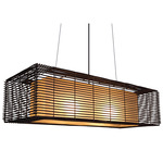 Kai Rectangular Indoor Hanging Lamp -  / Brown