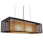 Kai Rectangular Indoor Hanging Lamp - Brown