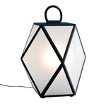 Muse Small Table Lamp - Black Pearl / Satin White Acrylic