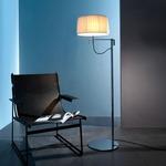 Divina Floor Lamp - Chrome / Cream Plisse