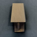 Quadra AP Mini Wall Sconce - Satin Bronze / Brown Oper