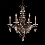 Amytis Multi Light Chandelier - Heirloom Bronze / Crystal